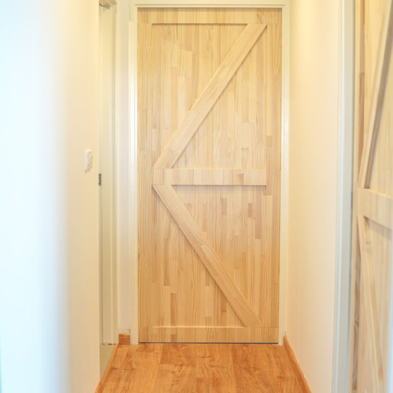 Pine Wood Bedroom Door Singapore – Barn Door Specialist